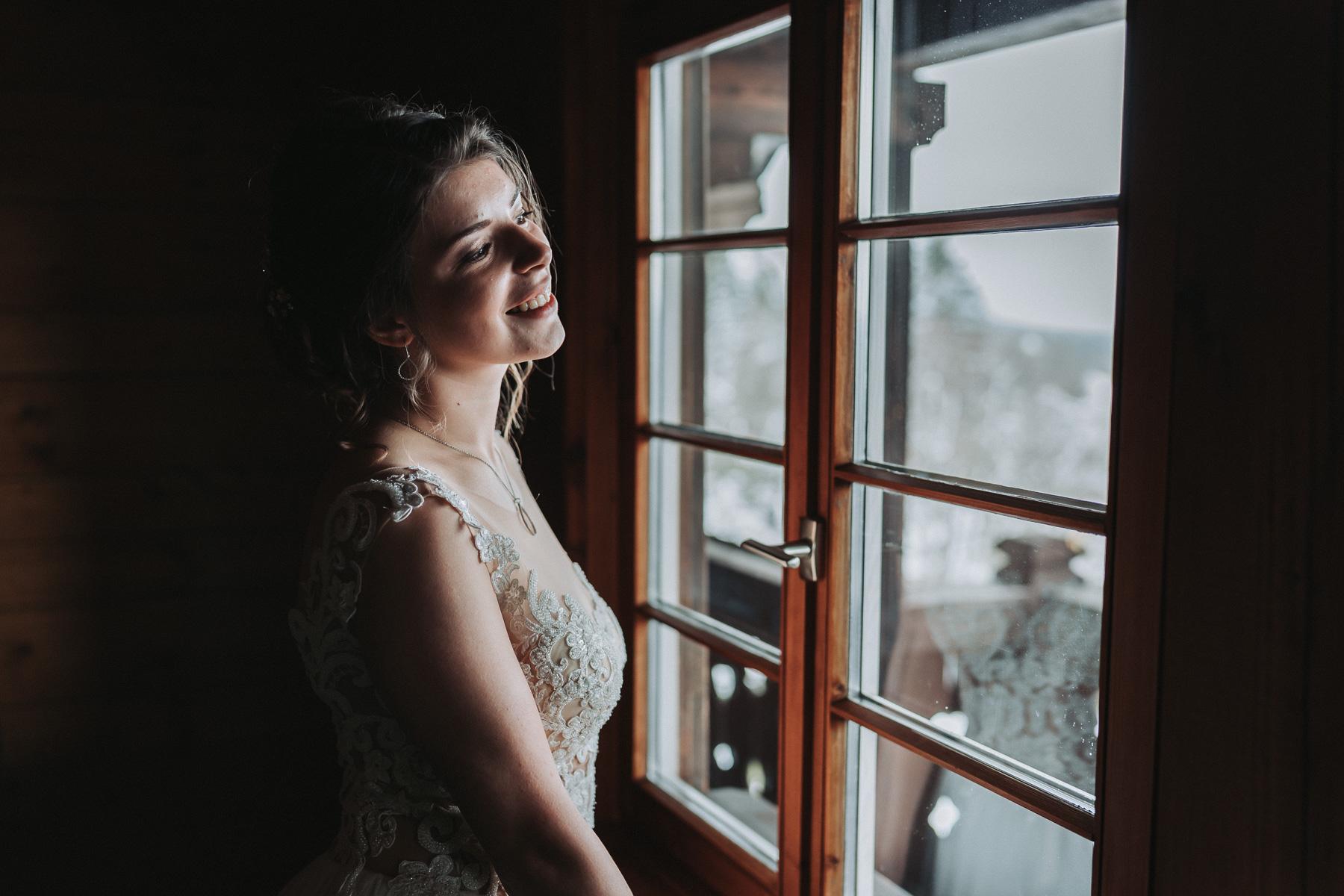 Hochzeit Schwarzwald Winter Getting Ready Barut Fenster